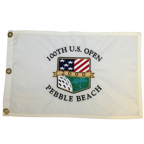 2000 US Open at Pebble Beach Embroidered White Flag