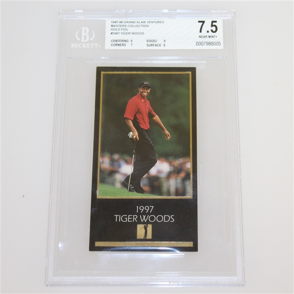 1934-1998 GSV Champions of Golf Gold Foil Set with Tiger Woods Beckett Graded 7.5 Card