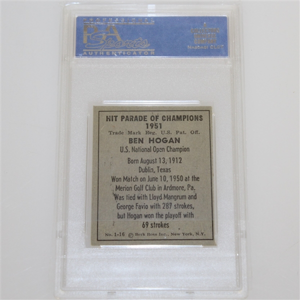 1951 Ben Hogan Berk Ross Golf Card NM 7 PSA#11114096