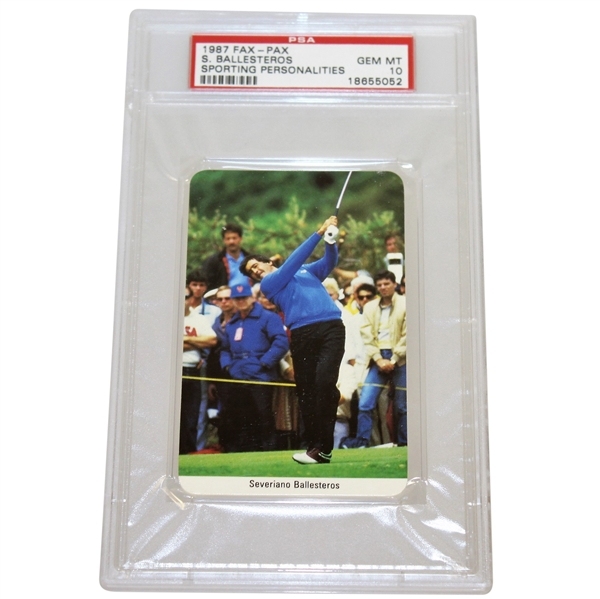 1987 Seve Ballesteros Fax-Pax Sporting Personalities GEM MT Card PSA#18655052