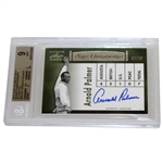 Arnold Palmer Signed 2012 Leaf Ultimate Golf Major Championships Mint 9 Ltd Ed 02/25 Card