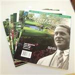 Nine Masters Tournament Journals - 1990, 1991, 1993, 1996, 1997, 1999-2002