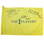 Hal Sutton Signed The Players Flag with Multiple Inscriptions JSA ALOA