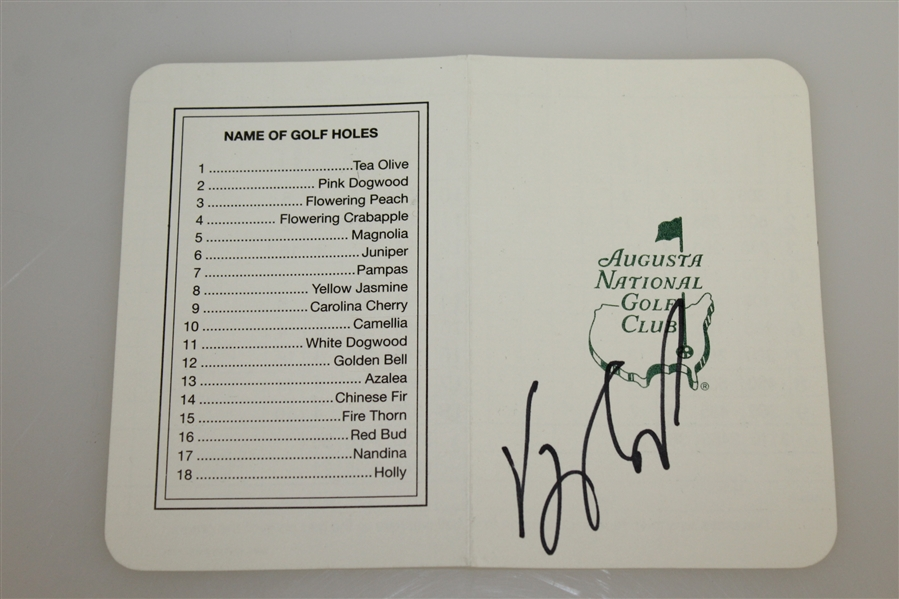 Vijay Singh Signed Augusta National Scorecard & 8x10 Post Swing Photo PSA/DNA & JSA