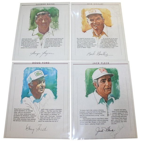 Doug Ford, Bob Goalby, George Bayer, & Jack Fleck Signed Magazine Portrait Pages JSA ALOA