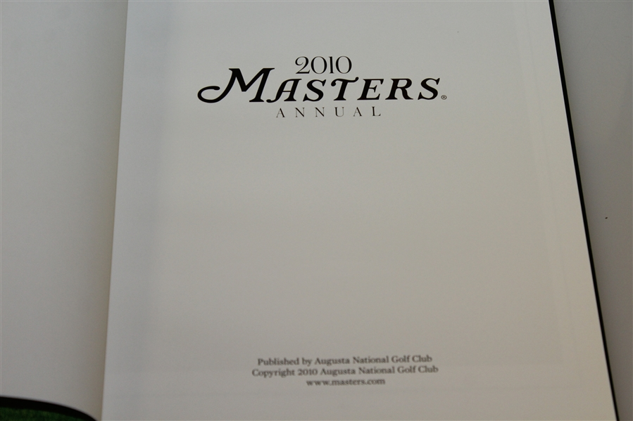2010 Masters Tournament Annual - Phil Mickelson's 3rd Masters Win - SCARCE