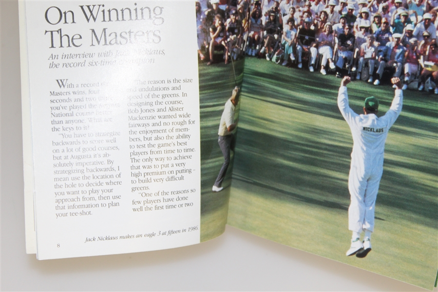 'The Majors Series' 1990 Book - Jack Nicklaus on Winning the Masters