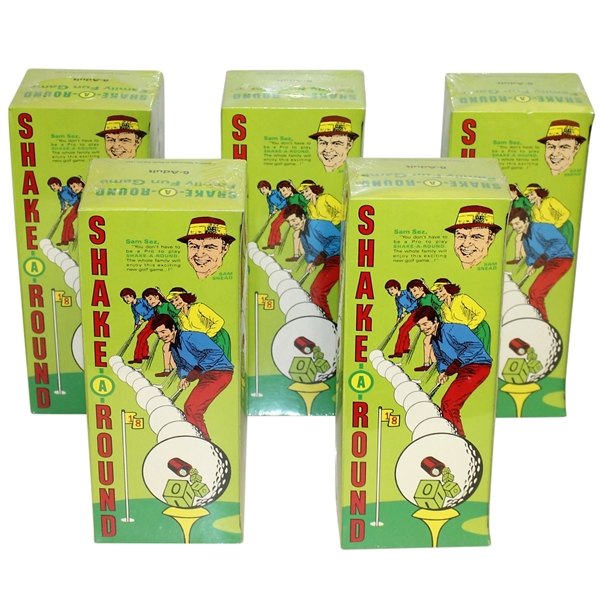 Classic Sam Snead 'Shake-A-Round' Family Golf Game - Set of Five!