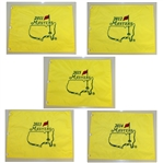 2011, 2012, 2013, 2014, & 2015 Masters Tournament Embroidered Flags