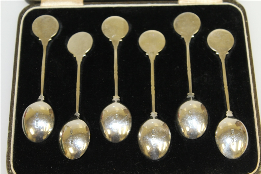 1926 - 1927 Sterling Silver Spoons by James Fenton & Co. Birmingham England in Original Fitted Case