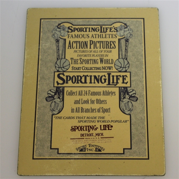 Robert T. Jones Sporting Life 'Cabinet Series' Card - Distressed Art Piece