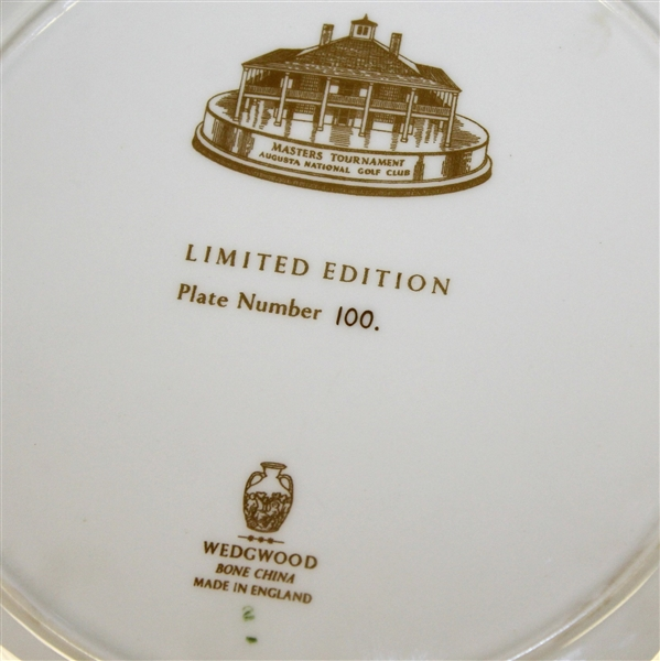 Augusta National Clubhouse Wedgwood Bone China Ltd Ed Plate #100 - Scarce