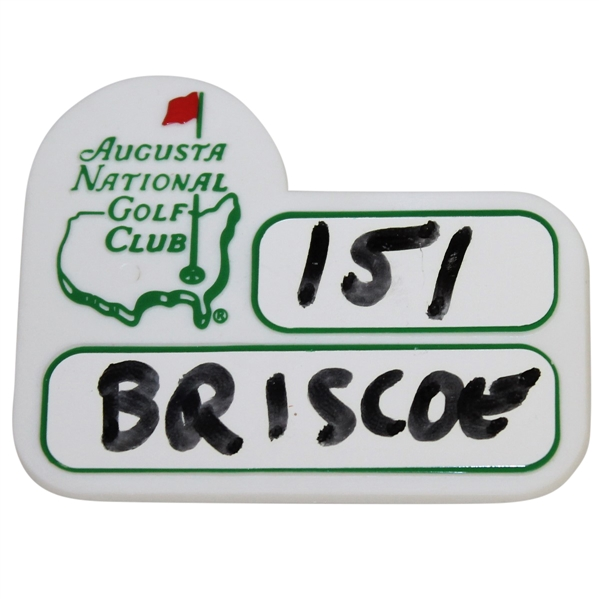 Augusta National Golf Club Undated Caddy ID Badge - Excellent Condition