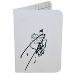 Danny Willett Signed Augusta National Golf Club Scorecard JSA ALOA