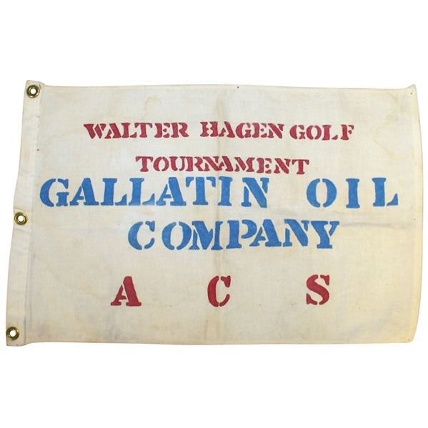 Classic Walter Hagen Golf Tournament 'Gallatin Oil Company ACS' Flag