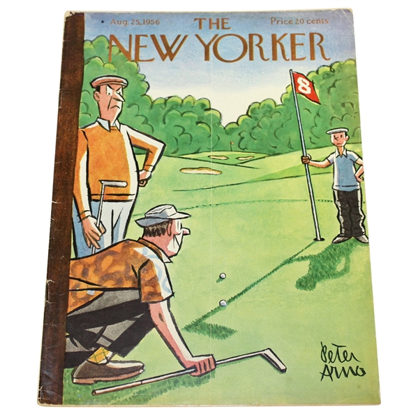 The New Yorker August 25, 1956 Magazine with Peter Arno Golf Themed Cover