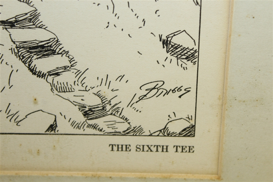 'The Sixth Tee' Cartoon No. 36 by Clare Briggs - Framed