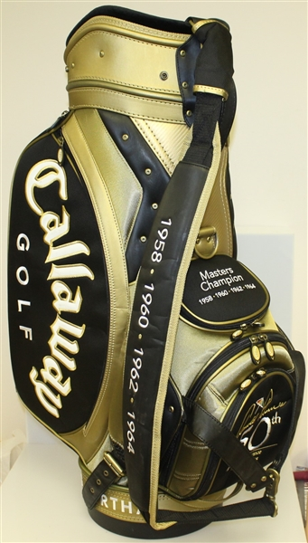 Arnold Palmer Signed '50th Appearance at The Masters' Commemorative Golf Bag JSA ALOA