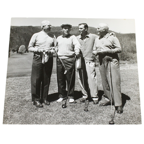 Ben Hogan's Personal Photo with Golf Group Including Bing Crosby