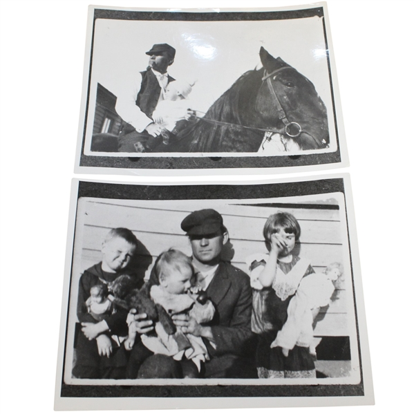 Ben Hogan's Personal Photos - Father on Horse & Father with brother Royal, sister Princess, & Ben