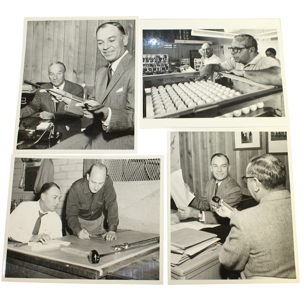 Ben Hogan's Personal Photos - Hogan Company Shots with Putter, Golf Balls, Drawing Board