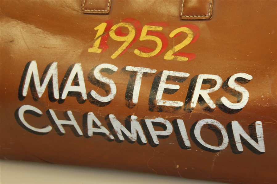 Sam Snead's '1952 Masters Champion - Sammy Snead Professional' Leather Bag