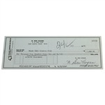 Ben Hogans Signed Personal Check to Shady Oaks Country Club - 1992 JSA ALOA