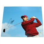 Sergio Garcia Signed Red Shirt - Post Swing 16x20 Photo #BAJ13639