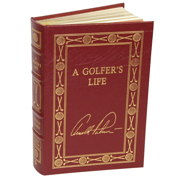 Arnold Palmer Signed Collector's Ltd Ed. Leather Bound 'A Golfer's Life' Book JSA ALOA
