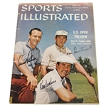 Arnold Palmer, Ken Venturi, & Dow Finsterwald Signed 6/13/1960 Sports Illustrated JSA ALOA