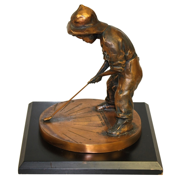 Pinehurst Country Club Balfour Large Putter Boy Bronze Sundial Statue