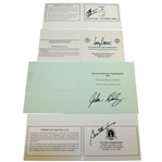 1995 Major Champs Signed Official Scorecards - Crenshaw, Pavin, Daly, & Elkington JSA ALOA