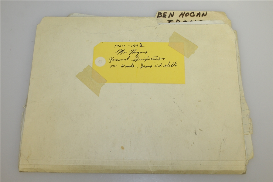 Ben Hogan's Personal Specifications, Notes, & Information for Personal Irons - Unique