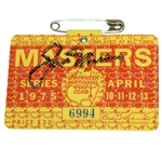 Jack Nicklaus Signed 1975 Masters Badge #6994 JSA ALOA