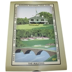 Tom Watson Signed 2008 Augusta National Golf Club Landmarks Collage Poster JSA ALOA