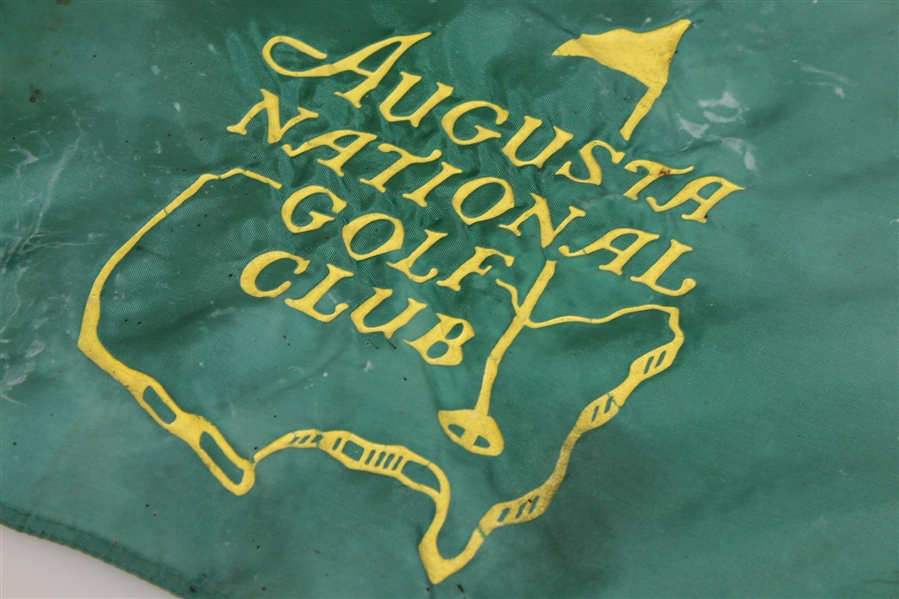 Augusta National Course Used Green Flag with Flagstick & Cup - Hadley Plemmons Sourced