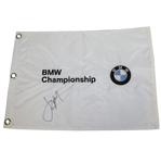 Jordan Spieth Signed BMW Championship Embroidered Flag JSA ALOA