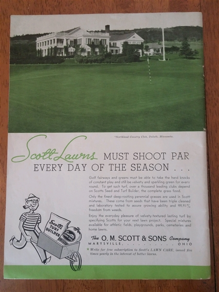 1941 Collegiate Golf Championship at Ohio State University Course Program
