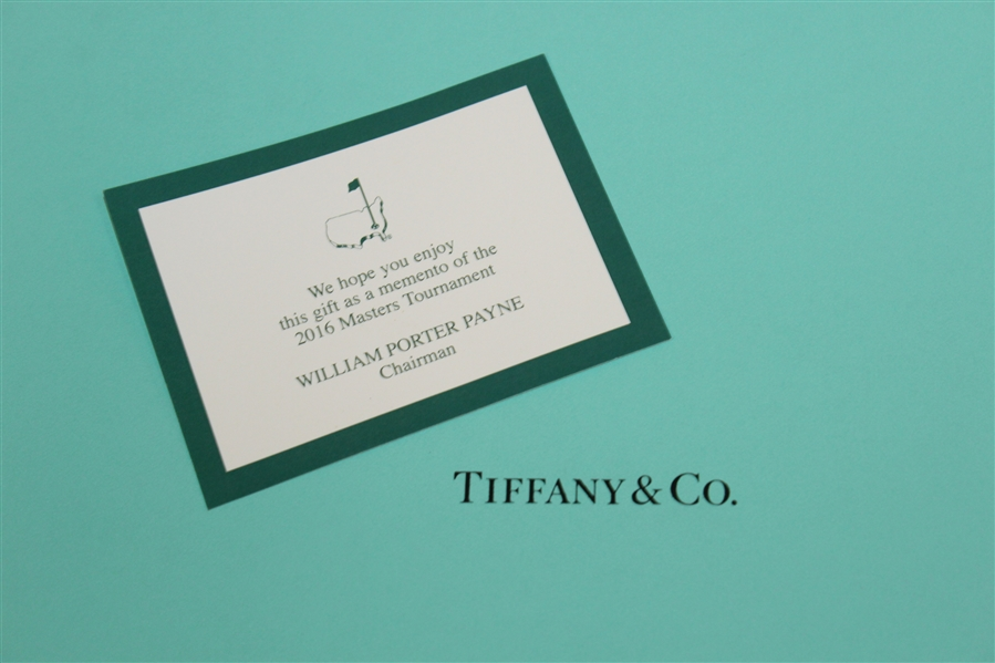 2016 Masters Tournament Member Gift - Two Tiffany & Co. Plates in Original Box