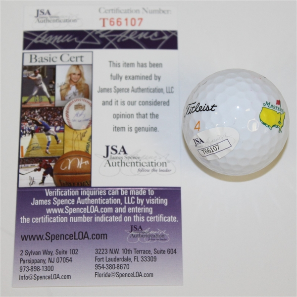 Mark O'Meara Signed Masters Logo Golf Ball JSA #T66107