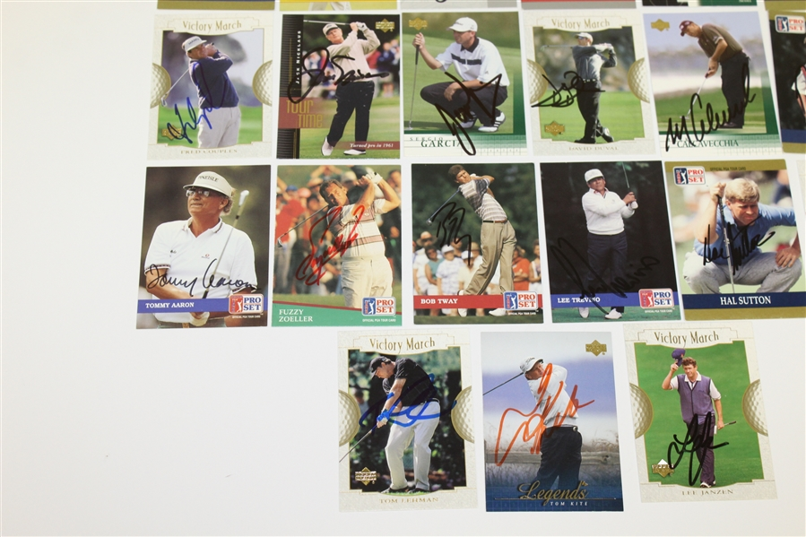 Thirty-Two Golf Cards Signed by Major Championship Winners - Nicklaus, Player, etc JSA ALOA