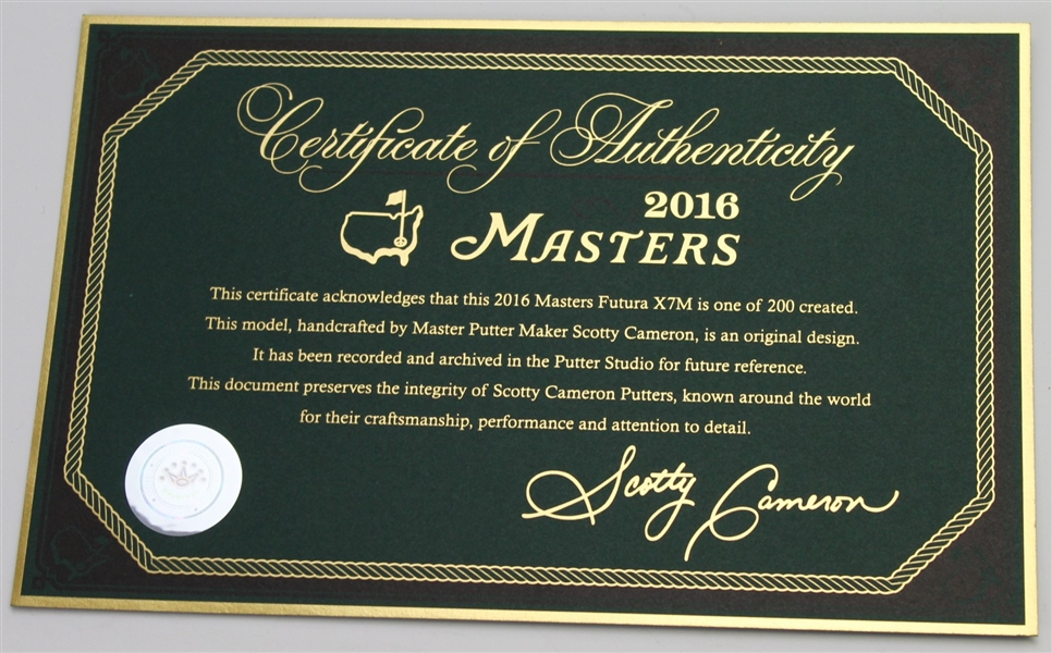 2016 Scotty Cameron Masters Ltd Ed Futura X7M Putter - Out of 200