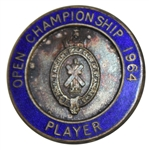 Deane Bemans 1964 Open Championship at St. Andrews Contestant Badge