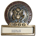 Deane Bemans 1966 US Open Championship at Olympic Club Contestant Badge