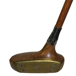 Spalding 2 Mallet Putter with Screw Insert Brass Plate Face