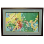 LeRoy Neiman Golf Champions Hogan, Snead, Nicklaus, Palmer, Player, & Trevino Print - Framed
