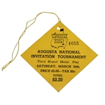 1934 Augusta National Invitation Saturday Third Round Medal Play Ticket #1655