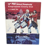 Arnold Palmer, Jack Nicklaus, and Tom Weiskopf Signed 1976 PGA Championship Program JSA ALOA
