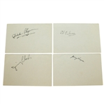 Jimmy Thompson, Dick Chapman, Jimmy Clark, & Ed Oliver Signed Album Pages JSA ALOA