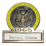 Deane Bemans 1965 US Amateur Championship Contestant Badge